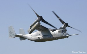 V-22 Osprey Transition Between Helicopter and Plane