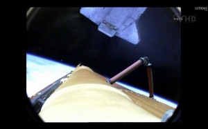 Releasing Orange Fuel Tank Space Shuttle Atlantis